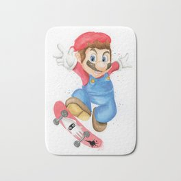 Skateboarder Mario Bath Mat