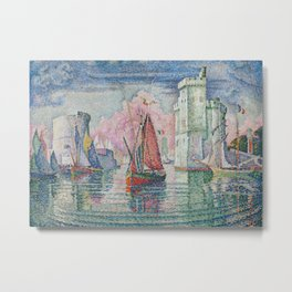 Entrance to the Port of La Rochelle Metal Print