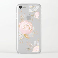Roses Gold Glitter Pink by Nature Magick Clear iPhone Case