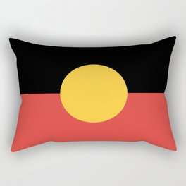 Australian Aboriginal Flag Rectangular Pillow