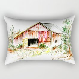 Old Tobacco Barn Rectangular Pillow