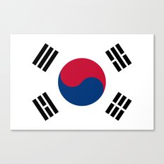 South Korean flag - officially the Republic of Korea, Authentic version - color and scale Canvas Print
