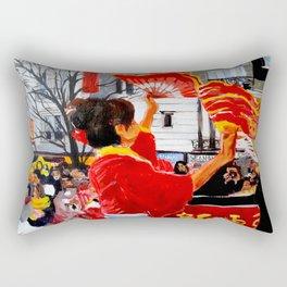Chinese New Year in Paris Rectangular Pillow