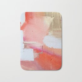Moving Mountains: a minimal, abstract piece in reds and gold by Alyssa Hamilton Art Bath Mat