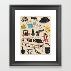 Artifacts: Breaking Bad Framed Art Print