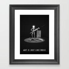 art is just like music Framed Art Print