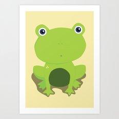 Green Frog Art Print