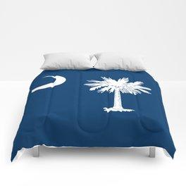 Flag of South Carolina - High Quality image Comforters