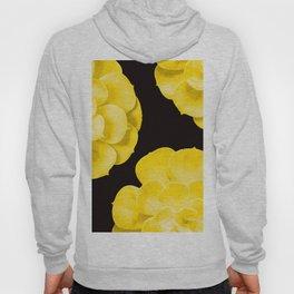 Large Yellow Succulent On Black Background #decor #society6 #buyart Hoody