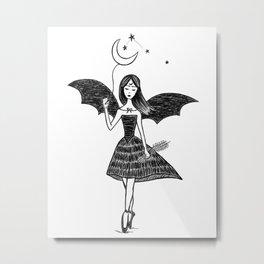 Dancing Ballerina Witch Metal Print