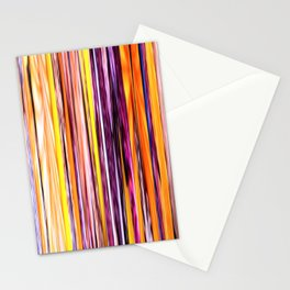 orange yellow purple abstract striped pattern Stationery Cards