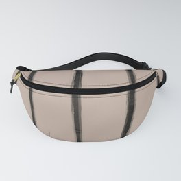 Skinny Strokes Gapped Vertical Black on Nude Fanny Pack