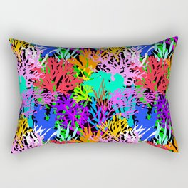Coral Collection in Black Rectangular Pillow