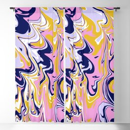 pink, navy & gold marble Blackout Curtain