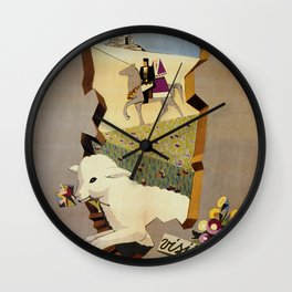 Visit Sardinia vintage Italian travel ad Wall Clock
