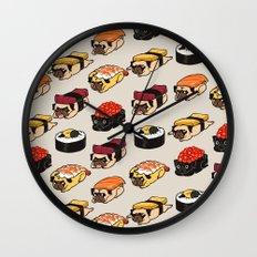 Sushi Pug Wall Clock