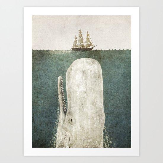 The Whale - vintage option Art Print