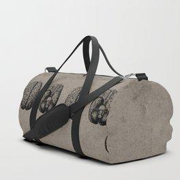 Row o' Brains - Engraving - Vintage - Old Black, White & Brown Duffle Bag