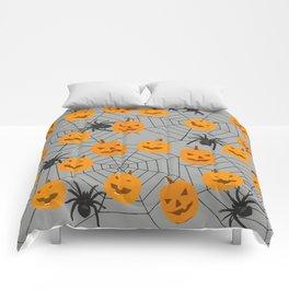 Hallween pumpkins spider pattern Comforters