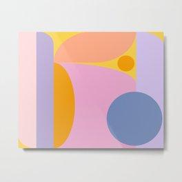 Pink and Lavender 01 Metal Print