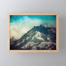 Cloudy Mountain Ridge Framed Mini Art Print