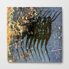 Josephine Baker Graffiti in the French Riviera Metal Print