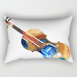 Violin Art By Sharon Cummings Rectangular Pillow