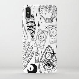 Fortune Teller Starter Pack Black and White iPhone Case