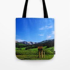 Gothic Campground Tote Bag
