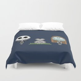 Jack & Sally (Pixel Art) Duvet Cover