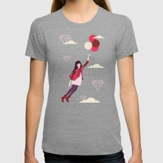 Lucy in the Sky Tri-Grey LARGE Womens Fitted Tee