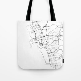 Minimal City Maps - Map Of San Diego, California, United States Tote Bag