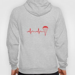 Skydiving Heartbeat Skydive Extreme Sports Parachute Skydiving Gifts Hoody