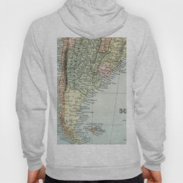 Vintage Map of the South of America Hoody