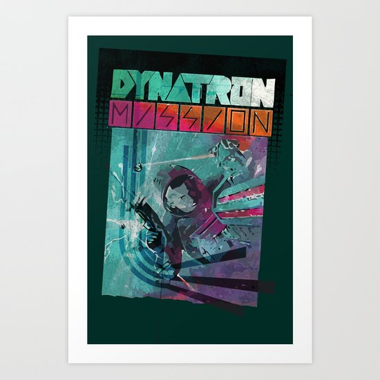 Dynatron Mission Art Print
