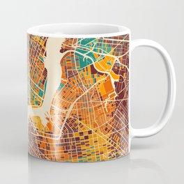 New York Mosaic Map #2 Coffee Mug
