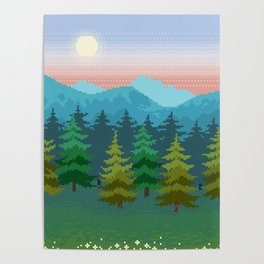Forests and Mountains Poster