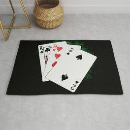 Blackjack Card Game, 21 Count, King Nine Two Combination Rug