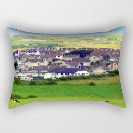 Landscape | Irish Town on Hill | Pop Art | Ireland | Nadia Bonello Rectangular Pillow