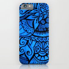 Tangle on blue iPhone 6s Slim Case