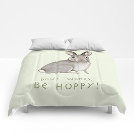 Don't Worry Be Hoppy Comforters
