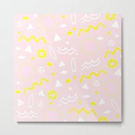 80's surf pattern Metal Print