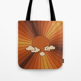 Retro Sunshine Tote Bag