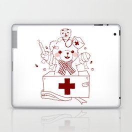 The Adventures of Bear and Baby Bear-Who's hurt? Laptop & iPad Skin