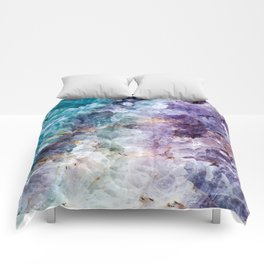Quartz Stone - Blue and Purple Comforters
