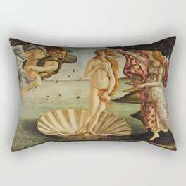 The Birth of Venus by Sandro Botticelli Rectangular Pillow