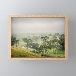 Mist Valley Framed Mini Art Print