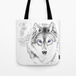 WOLF WHITE Tote Bag