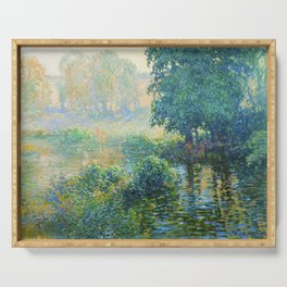 Václav Radimský (1867-1946) Bath Modern Impressionist Oil Painting Colorful Bright Landscapes Serving Tray