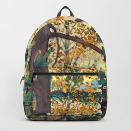 Akseli Gallen-Kallela - A lake view with stamp and inscription - Digital Remastered Edition Backpack